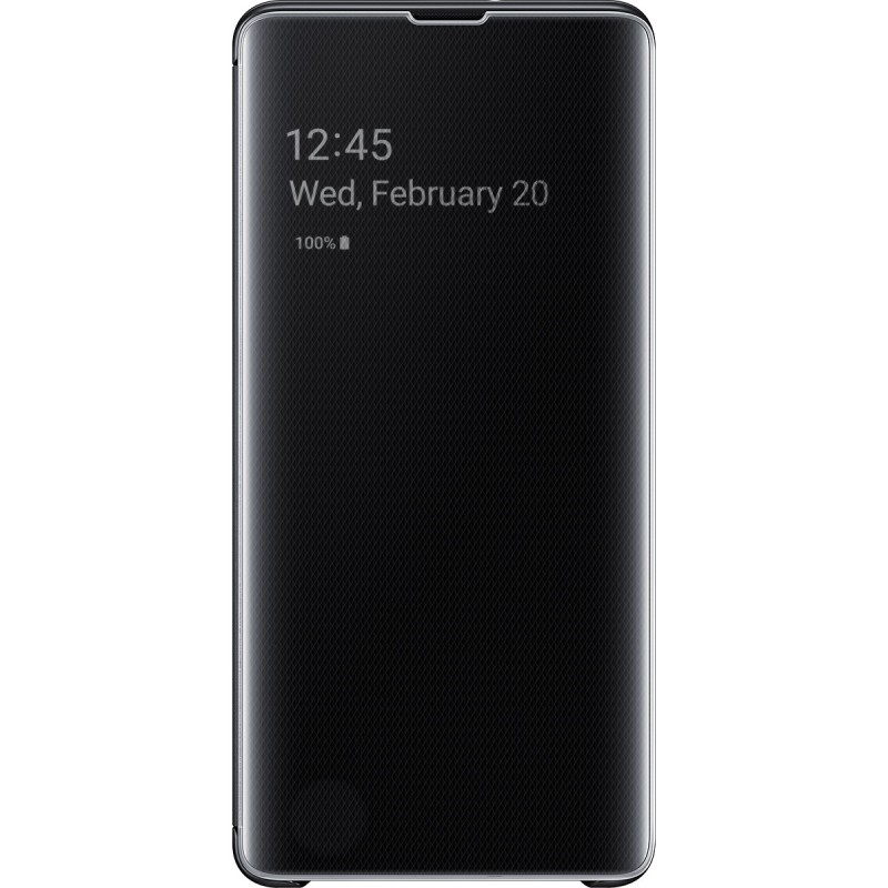Husă Samsung Clear View Cover (Black), Galaxy S10+,