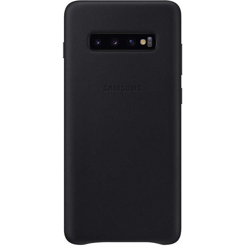 Чехол Samsung Leather Cover (Black) для Galaxy S10+,